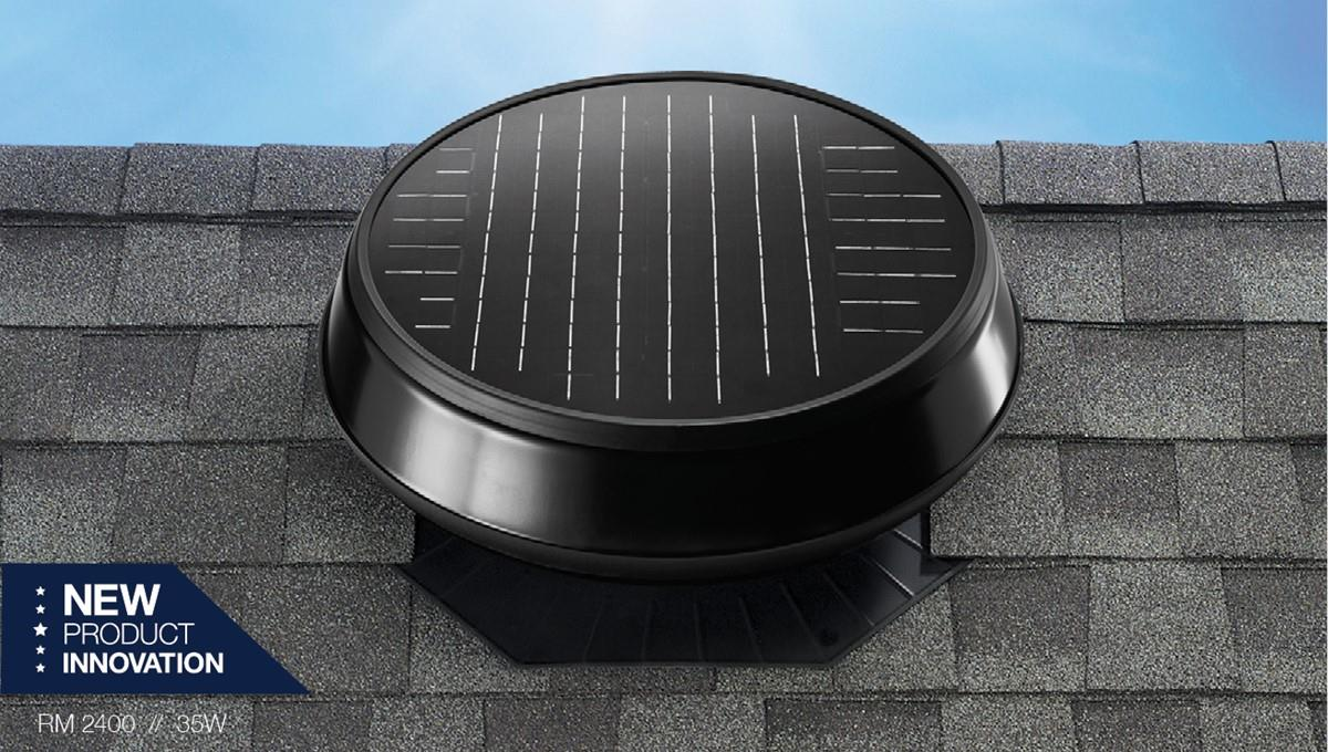 Roof Mount 2400 Solar Attic Fan