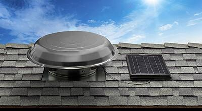 Solar Star Attic Fan Installed